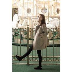 CHERRYKOKO - Snap-Button Wool Blend Coat