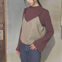 Alfie - Set: Long-Sleeve T-Shirt + Gingham Camisole