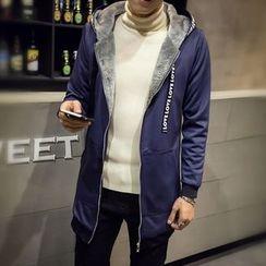 Chic Maison - Hooded Fleece-Lined Coat