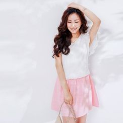 Tokyo Fashion - Lace Short-Sleeve Dress