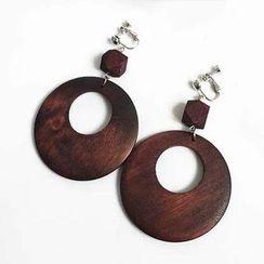 Calypso - Wooden Earrings / Clip-On Earrings