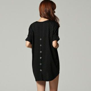 SARAH - Dotted Dip-Back Tunic
