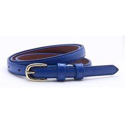 Charm n Style - Faux Leather Slim Belt