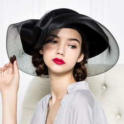 BADA - Mesh-Panel Wool Sun Hat
