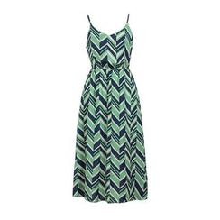 Flore - 山形纹雪纺沙滩裙