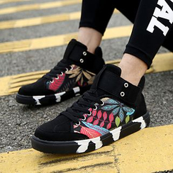 Easy Steps - Leaf Print High Top Sneakers