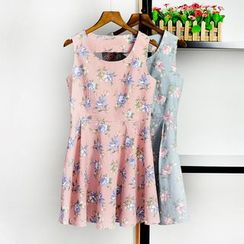 AIGIL - Floral Print Sleeveless Dress