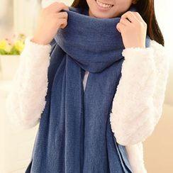 SunShine - 格紋厚圍巾