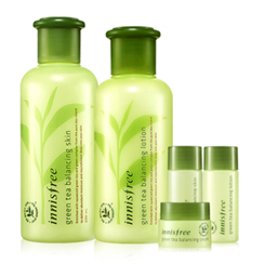 Innisfree - Green Tea Balancing Skin Care Set : Skin 200ml + 15ml + Lotion 160ml + 15ml + Cream 5ml