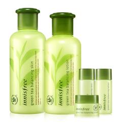 悦诗风吟 - Green Tea Balancing Skin Care Set : Skin 200ml + 15ml + Lotion 160ml + 15ml + Cream 5ml