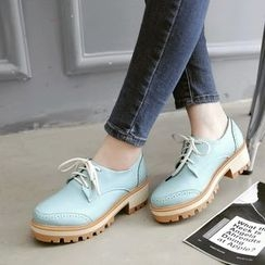 Pastel Pairs - Lace-Up Brogue Shoes