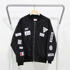 Mr. Cai - Applique Zip Jacket