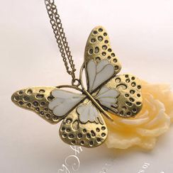 Fit-to-Kill - Oil Dripping Butterfly Necklace