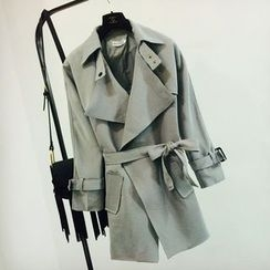 Apalili - Plain Trench Coat