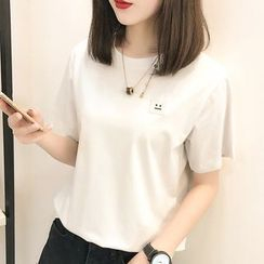 Ranee - Short-Sleeve Embroidery T-Shirt