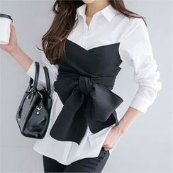 Babi n Pumkin - Contrast-Tie Shirt