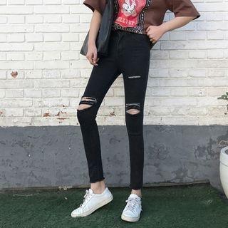 Bloombloom - Ripped Skinny Jeans