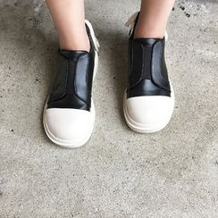Zandy Shoes - Tie-Up Slip-On Sneakers
