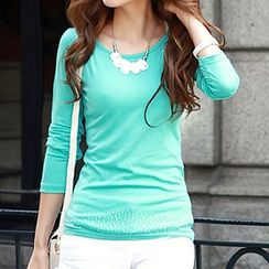 Ranee - Long-Sleeve Rhinestone Top