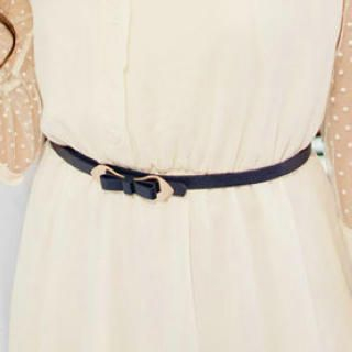 Cuteberry - Bow-Accent Skinny Belt