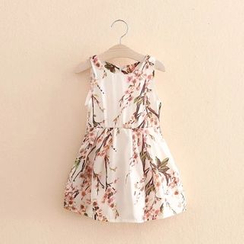 Seashells Kids - Kids Floral Print Sleeveless Dress