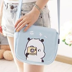 Canvas Love - Cartoon Canvas Shoulder Bag
