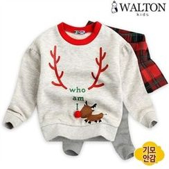 WALTON kids - Kids Set: Print Sweatshirt + Inset Skirt Leggings