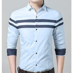JIBOVILLE - Striped Slim Fit Shirt