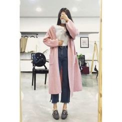 OZNARA - Raglan-Sleeve Open-Front Long Cardigan