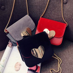 Auree - Heart Accent Flap Cross Bag