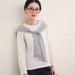 三木社 - 假两件长袖T恤