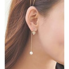 Kulala - Faux Pearl Non-Matching Earrings