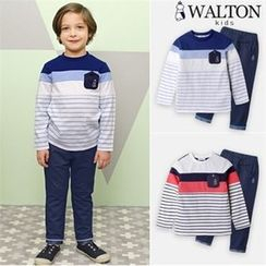 WALTON kids - Boys Set: Striped T-Shirt + Jeans