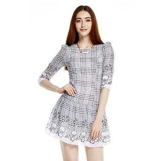O.SA - 3/4-Sleeve Patterned Dress