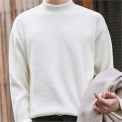 STYLEMAN - Colored Mock-Neck T-Shirt