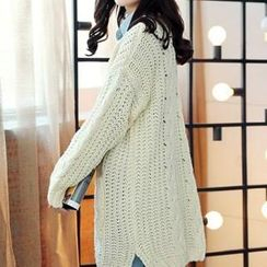 Romantica - Cable-Knit Long Cardigan