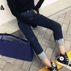 DOUX - Cuffed Slim-Fit Jeans