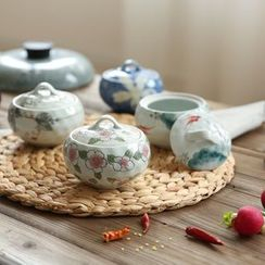 Kawa Simaya - Floral Ceramic Seasoning Pot