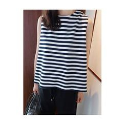 maybe-baby - Sleeveless Striped Top