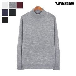 DANGOON - Mock-Neck Colored Knit Top
