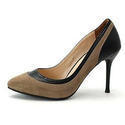 MODELSIS - Two-Tone Genuine Leather Pumps