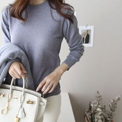 DAILY LOOK - Round-Neck Wool Blend Knit Top