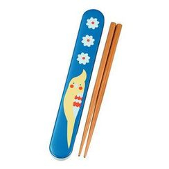 Hakoya - Hakoya 18.0 Slide Chopsticks Box Set Cockatiel Blue