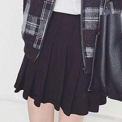 Rollis - Pleated A-Line Skirt