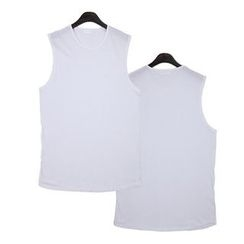 Seoul Homme - Sleeveless Long T-Shirt