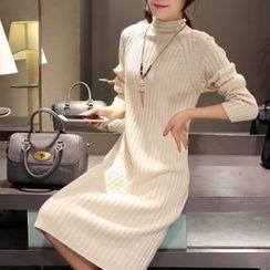 Cobogarden - 小高领毛衣连衣裙