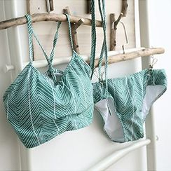 Moonrise Swimwear - Chevron Spaghetti Strap Bikini