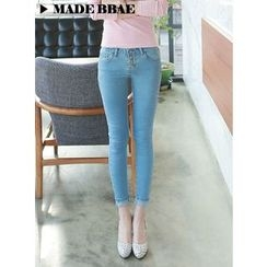 BBAEBBAE - Button-Front Skinny Jeans