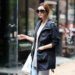 Jcstyle - Cargo-Pocket Rain Coat