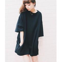 Pluvio - 纯色七分袖裙衣